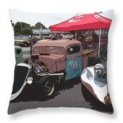 Car Show Hot Rods Throw Pillow by Steve McKinzie