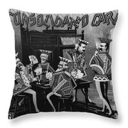 Card Company Trade Card Throw Pillow by Granger