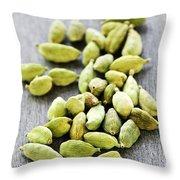 Cardamom Seed Pods Throw Pillow by Elena Elisseeva