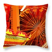 Carnival lights  Throw Pillow by Garry Gay
