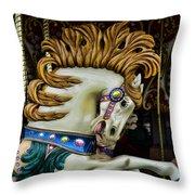 Carousel Horse - 4 Throw Pillow by Paul Ward