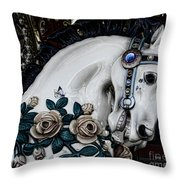 Carousel Horse - 8 Throw Pillow by Paul Ward