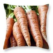 Carrots Throw Pillow by Elena Elisseeva