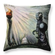 Cartoon: Civil Rights 1953 Throw Pillow by Granger