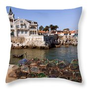 Cascais Bay Throw Pillow by Carlos Caetano
