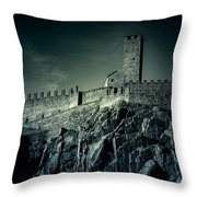 Castelgrande Bellinzona Throw Pillow by Joana Kruse