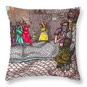 Castle Hill Street  Gang  Throw Pillow by Al Goldfarb