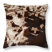 Castles Made Of Sand Throw Pillow by Xueling Zou