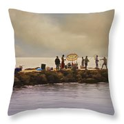 Catch Of The Day Throw Pillow by Robert Smith