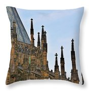 Cathedral Of Ss Vitus - Prague Castle Hradcany - Prague Throw Pillow by Christine Till