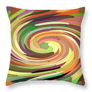 Cat's Tail In Motion. Stained Glass Effect. Throw Pillow by Ausra Paulauskaite