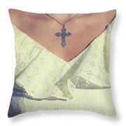 Celctic Cross Throw Pillow by Joana Kruse