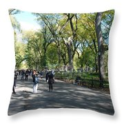 CENTRAL PARK MALL Throw Pillow by ROB HANS