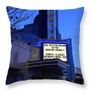 Cerrito Theater In El Cerrito California . 7d11035 Throw Pillow by Wingsdomain Art and Photography