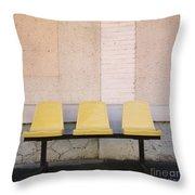 Chairs Throw Pillow by Bernard Jaubert