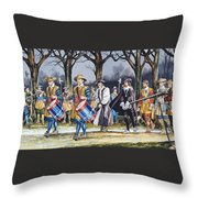 Charles I's Last Walk  Throw Pillow by Ron Embleton