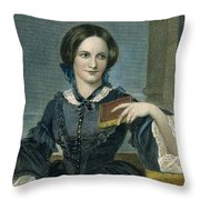 Charlotte Bronte Throw Pillow by Granger