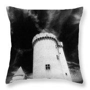 Chateau De Blandy Les Tours Throw Pillow by Simon Marsden