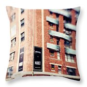 Chelsea Market New York City Throw Pillow by Kim Fearheiley