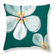 Cherry Blossoms Throw Pillow by Linda Woods