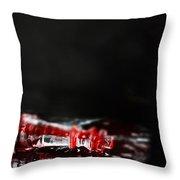 Chess Piece Lying In Blood Throw Pillow by Stephanie Frey