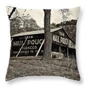 Chew Mail Pouch Sepia Throw Pillow by Steve Harrington