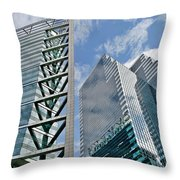 Chicago - City Of Big Shoulders Throw Pillow by Christine Till
