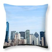 Chicago Panoramic Skyline High Resolution Picture Throw Pillow by Paul Velgos