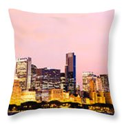 Chicago Skyline Panoramic Throw Pillow by Paul Velgos