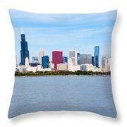 Chicago Skyline Throw Pillow by Paul Velgos