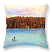 Chickasaw Bridge Throw Pillow by Jai Johnson