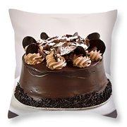 Chocolate Cake Throw Pillow by Elena Elisseeva