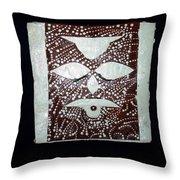 Christ - Cristu Throw Pillow by Gloria Ssali