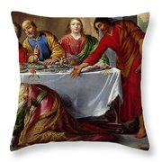 Christ In The House Of Simon The Pharisee Throw Pillow by Claude Vignon