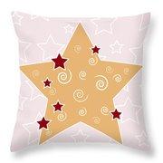 Christmas Star Throw Pillow by Frank Tschakert
