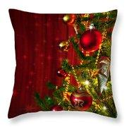 Christmas Tree Detail Throw Pillow by Carlos Caetano
