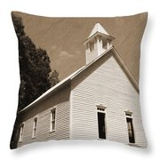Church In The Mountains Throw Pillow by Barry Jones