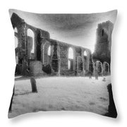 Church Of St Andrew Throw Pillow by Simon Marsden