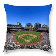 Citifield Throw Pillow by Rick Berk