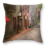 City - Rhode Island - Newport - Journey Throw Pillow by Mike Savad