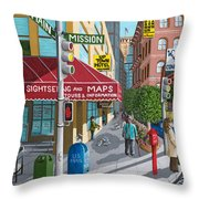 City Corner Throw Pillow by Katherine Young-Beck
