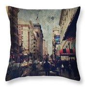 City Sidewalks Throw Pillow by Laurie Search