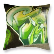 City Sponsored And Approved Graffiti Throw Pillow by Bill Hatcher