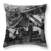Civil War: Union Camp Throw Pillow by Granger