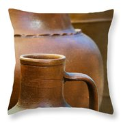 Clay Pottery Throw Pillow by Carlos Caetano