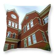 Clock Tower Throw Pillow by Renee Trenholm