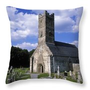 Clonfert Cathedral, Clonfert, Co Throw Pillow by The Irish Image Collection