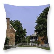Clover Hill Tavern And Kitchen Appomattox Virginia Throw Pillow by Teresa Mucha