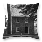 Clover Hill Tavern Guesthouse Bw Throw Pillow by Teresa Mucha