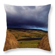 Co Cavan, Lake In West Cavan Mnts Throw Pillow by The Irish Image Collection
